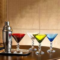 """Набор из 4-х цветных бокалов для мартини """"Vega"""" Baccarat 2810828"""