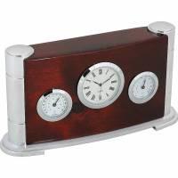 Часы настольные с термометром и гигрометром Linea del Tempo A9211R