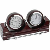 Часы настольные с термометром и гигрометром Linea del Tempo A9248R