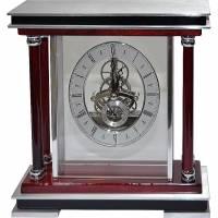 Часы настольные с механизмом скелетон Linea del Tempo S2507R