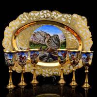 "Набор для вина на 6 персон ""Орлиная охота"" Златоуст RV0042225CG"
