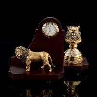 """Настольные часы с оснасткой для печати """"Лев"""" Златоуст RV0044140CG"""