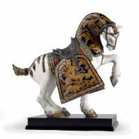 """Статуэтка """"Восточный конь""""(матовый) Lladro 01001944"""