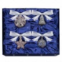 Набор Faberge/Tsar из 4-х ёлочных игрушек Assorte 680511