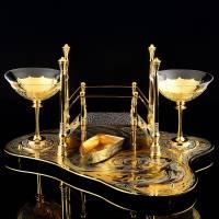 Набор для вина на 2 персоны (с музыкальным модулем). Златоуст RV0048432CG