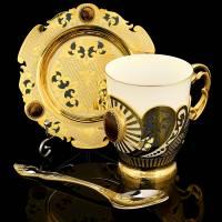 """Кофейная пара """"Тигровый глаз"""" Златоуст RV0039201CG"""