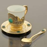 Кофейная пара (чашка, блюдце, ложка) Златоуст RV0017154CG