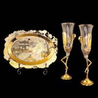 """Набор для вина """"Любовь"""" на 2 персоны Златоуст RV0023132CG"""