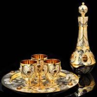 Набор (штоф, 3 стакана, блюдо) Златоуст RV0022176CG