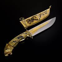 """Нож подарочный """"Тигр"""" Златоуст RV0046413CG"""