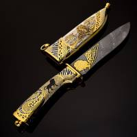 "Нож сувенирный ""Лев"" Златоуст RV0012990CG"