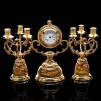 Набор каминный с часами и канделябрами (2 шт.) Златоуст RV0050626CG