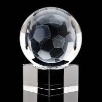 """Лазерная графика """"Футбольный мяч"""" на подставке RV0050689CG"""