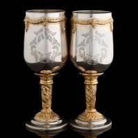 """Набор бокалов из серебра """"Барокко"""" с эксклюзивной гравировкой RV14902CG"""