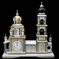 "Часы интерьерные из камня ""Православный храм"" Златоуст RV0022167CG"