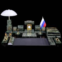 Настольный набор с лампой для руководителя Златоуст RV0052430CG