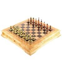 Шахматы деревянные из карельской березы (фигуры из янтаря) RV0052820CG