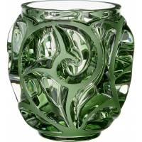 """Ваза для цветов зелёная (малая) """"Tourbillons"""" Lalique 10571400"""