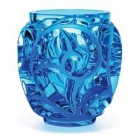 """Ваза для цветов голубая """"Tourbillons"""" Lalique 10410600"""