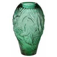 "Ваза для цветов зелёная ""Poissons combattants grand"" Lalique 10672200"