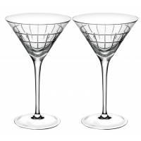 """Набор из 2-х бокалов для мартини с палочками """"Graphik"""" Christofle 07945282"""