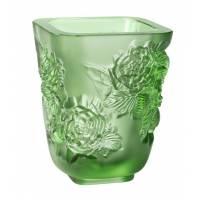 "Ваза для цветов ""Pivoines"" зелёная Lalique 10708800"