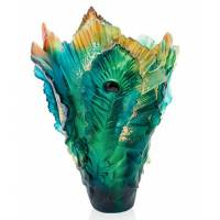 """Ваза для цветов """"Fleur de Paon"""" зелёная Daum (Лимитированная коллекция 125 экз.) 05692-1"""