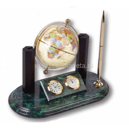 """Настольный набор """"Лидер""""c глобусом и ручкой на мраморной подставке 613708"""