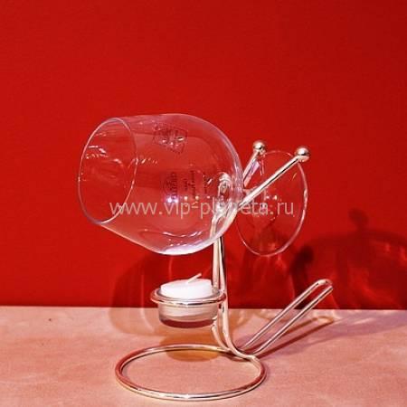 Бокал для коньяка дегустационный Complete с нагревательным прибором Chinelli 2006400