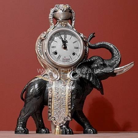 """Настольные часы с """"Черным слоном"""" Linea Argenti ORO826NO"""