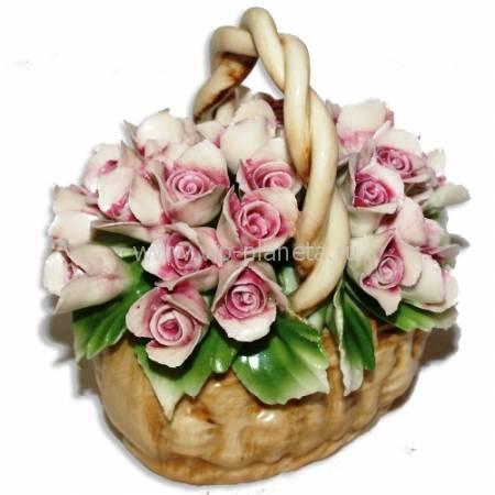 Декоративная корзина Artigiano Capodimonte 0210/28/pink