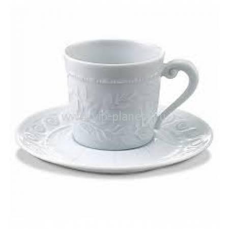 "Чашка кофейная с блюдцем ""Louvre White"" BERNARDAUD 79LouvreWhite"
