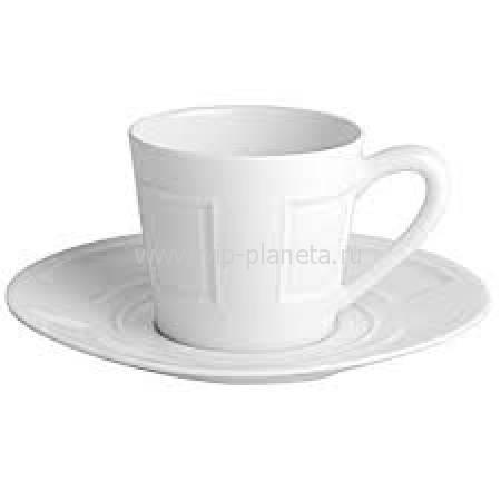 """Кофейная чашка с блюдцем """"Naxos Blanc"""" BERNARDAUD 79NaxosBlanc"""