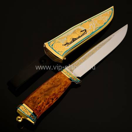 "Нож ""Охотник"" украшенный Златоуст RV22093CG"
